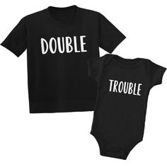 Double Trouble Sibling T-Shirts Double Trouble Sibling Shirts | Baby Shower Gifts | Pregnancy Gifts | Gifts for Toddlers | Big Brother Little Brother Shirts