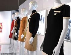 An exhibition celebrating fashion pioneer Mary Quant, will open at the V&A on Saturday. Exploring it aims to celebrate her commitment to feminism and democracy in fashion. Mod Fashion, 1960s Fashion, Fashion Styles, Mary Quant, V & A Museum, Girl Standing, Vintage Wardrobe, The V&a, Twiggy