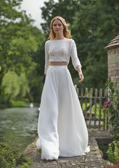 Crop top wedding dress | Stephanie Allin Love Letters Collection 2016 | SouthBound Bride | http://www.southboundbride.com/stephanie-allin-2016-love-letters-collection