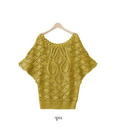 Recetas de ganchillo: blusas de crochet con manga murciélago