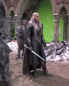 Thranduil and Legolas ( I love the elves ), Bard. Lee Pace Thranduil, Elven Costume, Forest Elf, Legolas, The Elf, Middle Earth, Lord Of The Rings, Tolkien, Lotr