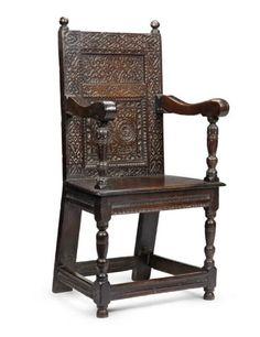 Reputedly drawn from Parnham House, in Sussex, UK, the armchair is believed to have been created circa 1580