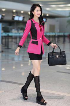 Elegant Two-Colored Blazer Jacket YRB0282