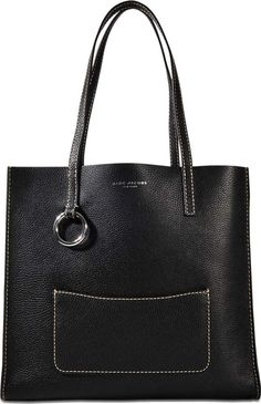 Marc Jacobs The Bold Grind Shopper Bag in Black Cow Leather