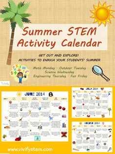 Summer/End of School STEM Activity Calendar: Fun with Math and Science! Keep your students engaged in learning during the summer with this packed STEM calendar! Activities are straightforward and accessible to students of all levels with little or no supplies needed.$
