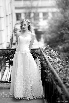 simple and sweet Marie Laporte wedding dress