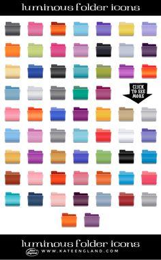 Luminous Desktop Folder Icons by Marmalade Moon on Creative Market #icons