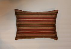 Exclusive 12x16 Burgundy Rust Brown Beige Lumbar Pillow by DecorTreasures on Etsy