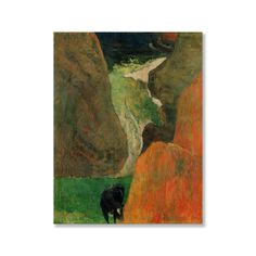 Gallery Direct Edgar Degas' 'Seascape with Cow on the Edge of a Cliff' Print on