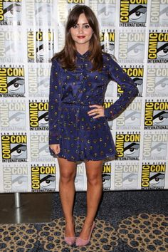 The Stars Turn Out, Dress Down for Comic-Con: Jenna Coleman in Antipodium
