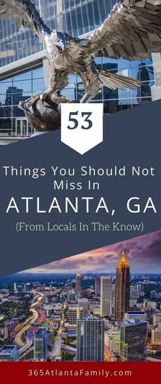 So you're planning a visit to Atlanta? Great! We're happy to have you. Atlanta is a treasure trove of history and culture and offers guests and residents many opportunities for family fun. Check out this travel guide including parks and green spaces, world-class restaurants and local food, an amazing events calendar, family activities, music venues and plenty of interactive museums! Plan your itinerary to this fun USA vacation destination! #Atlanta #Georgia #familytravel