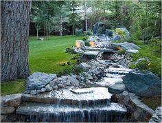 My backyard creek.....I would never go indoors again!!