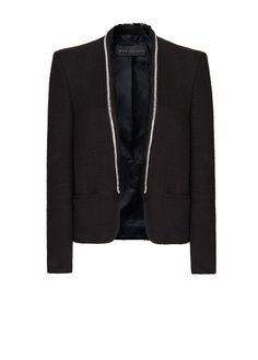 MANGO - Bouclé tuxedo blazer