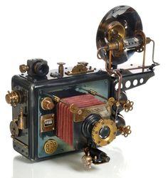 Tin 1947 Inspired Steampunk Camera