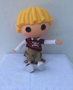 """Lalaloopsy Boy Patch Treasurechest Pirate Full Size Doll Rare HTF 12"""" GUC #DollswithClothingAccessories"""