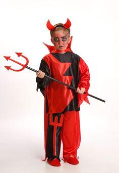 DisfracesMimo, disfraz de demonio para niño varias tallas. Es muy cómodo para vestir a los diminutos de la casa, y que puedan hacer mil travesuras en las fiestas temáticas de las guarderías, en halloween.Este disfraz de diabla es ideal para tus fiestas temáticas de disfraces de miedo y diablos para niños infantiles