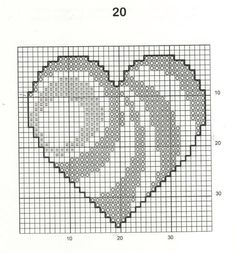 30 Free Heart Cross Stitch Patterns I always imagined choosing one designing an. - 30 Free Heart Cross Stitch Patterns I always imagined choosing one designing and making it in a wh - Cross Stitch Freebies, Cross Stitch Bookmarks, Mini Cross Stitch, Cross Stitch Heart, Simple Cross Stitch, Embroidery Hearts, Cross Stitch Embroidery, Cross Stich Patterns Free, Wedding Cross Stitch