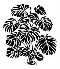 Cheese Plant stencil from The Stencil Library GARDEN ROOM range. Buy stencils online. Stencil code GR78.