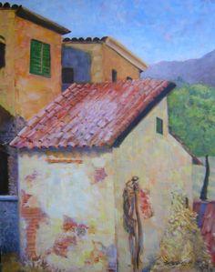 """A Village Corner""  Giclee print: $85.00: Free shipping: 2015 Contact: MB.artwork@verizon.net"