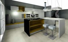 Kitchen white&yellow