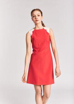 Robe rouge corail  - femme - tara jarmon 1