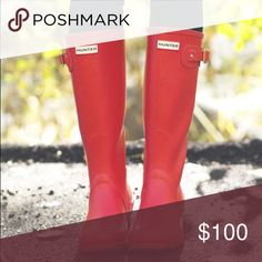 Red matte for sale or trade for purple matte color Perfect condition Hunter Boots Shoes Winter & Rain Boots