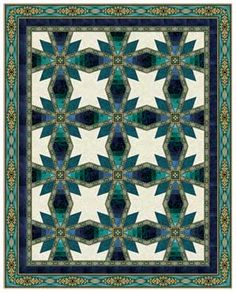 Jinny Beyer quilt using base fabric of coraline quilt