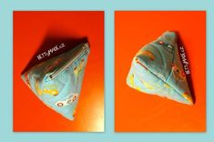 Triangle zippered pouch