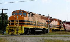 Typical Genesee & Wyoming livery on a Huron Central locomotive.