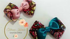 Passo a passo: Laço dupla face enrolado by  Tatiana Karina DIY/ Tutorial...
