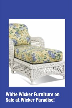 White wicker furniture is a timeless classic perfectly suited for the bedroom, bathroom, porch, patio and other living areas. Wicker Paradise offers both natural indoor and synthetic outdoor wicker pieces in white. Wicker Porch Furniture, Painting Wicker Furniture, Wicker Bedroom, Wicker Table, Wicker Chairs, Furniture Sale, Wicker Shelf, Painted Wicker, Timeless Classic