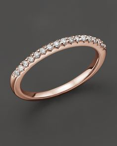 Rose gold wedding band? Yes, please... (From Bloomingdales via Lover.ly)