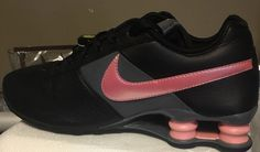 new arrival c8008 d3f0b Nike shox deliver leather running shoe women size 8.5 black pink 317549  amazing