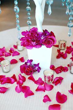 #roses, #crystal  Photography: Kay English Photography - kayenglishphotography.com  Read More: http://stylemepretty.com/2011/07/20/atlantic-city-wedding-by-kay-english-photography/