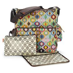 Skip Hop Waves duo diaper bag. Jonathan Adler. I hope by the time I'm ready to have kids, JA still makes these bags. Because I love them and they aren't as pricey as Petunia Pickle Bottom bags (Which I heart as well!)