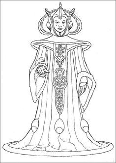star wars queen amidala coloring pages printable and coloring book to print for free. Find more coloring pages online for kids and adults of star wars queen amidala coloring pages to print.