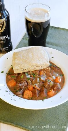 Beef Stew with Guinness Biscuits for the perfect cold weather meal   cookingwithcurls.com