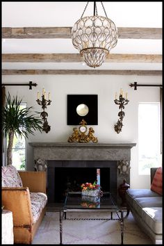 The beams - the light - that mantel ...