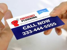 Local 24 Hour Emergency Plumbing Services Business Card Template