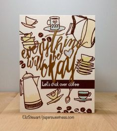 Altenew: A Year in Review Inspiration Challenge [1st entry] | everything will be ok | Paper Sweetness by ElizStewart Family Gift Baskets, Family Gifts, Everything Will Be Ok, Cozy Cafe, Stamp Card, Coffee Cards, Altenew, Coffee Love, Little Boxes
