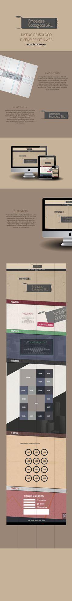 Identidad y Sitio Web para Embalajes Ecológicos.