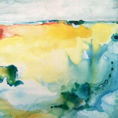 Abstract landscape exploration on claybord by artist Vicki Hutchins