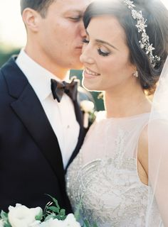 dove grey winery wedding | art deco wedding gown | baguette diamond | green and white bouquet | church wedding | jen huang photo | shannon leahy events  | wedding poses