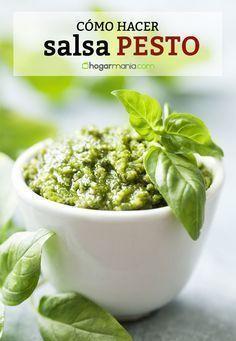 Cómo hacer salsa pesto. Es mucho más fácil de lo que piensas. Descúbrelo en #hogarmania #salsa #pesto #recetas