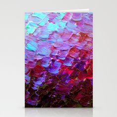 """Mermaid Scales"" by Ebi Emporium on #Society6, Fine Art Stationery Cards Set Abstract Acrylic Painting Modern Decorative Eggplant Dark Purple Violet Turquoise Ombre, #fineart #ombre #art #purple #purple #mermaid #colorful #abstractpainting #EbiEmporium #JuliaDiSano #staionerycards #cards #stationery"