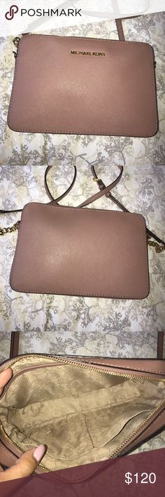 Michael Kors Jet Set Large Saffiano Crossbody MICHAEL Michael Kors Jet Set Large Saffiano Leather Crossbody. Rose pink Michael Kors crossbody bag. Comes with dust bag. GREAT CONDITION. MICHAEL Michael Kors Bags Crossbody Bags