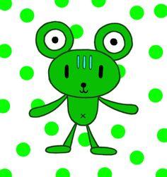 Teddy bear cartoon character - Lovely frog bear