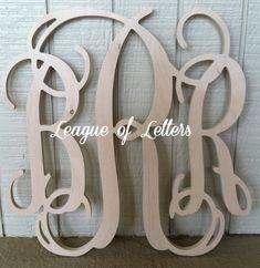 SALE ITEM 24 inch Wooden Monogram Letters Vine by LeagueofLetters, $22.00