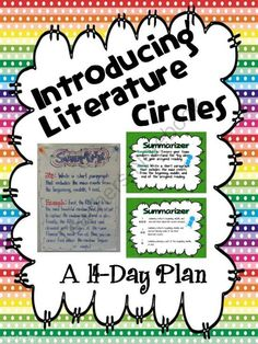Literature Circles: A 14-Day Plan from Wild About Words on TeachersNotebook.com -  (40 pages)  - Literature circle unit Includes 14 individual plans for introducing literature circles in an explicit and intentional manner. Lessons are scaffolded to include modeling of each literature circle role, paired practice, and independent practice with the las