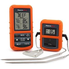 Digital Thermometer for Dad for Fathers Day! Wireless Remote Digital Cooking Food Meat Thermometer with Dual Probe for Smoker Grill Oven BBQ JKE top Fathers Day pick. Bbq Thermometer, Digital Thermometer, Barbacoa, Smoked Beef Roast, Smoked Pork, Roast Beef, Grill Oven, Bbq Grill, Best Meat